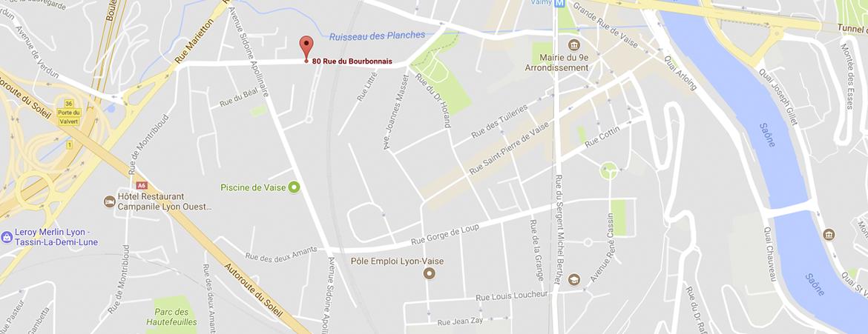 Googlemap du magasin de vélos électriques